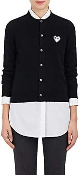 Comme des Garcons Women's Stockinette-Stitched Wool Cardigan