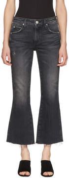 Amo Black Kick Crop Jeans