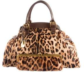 Dolce & Gabbana Printed Ponyhair Tote - BROWN - STYLE