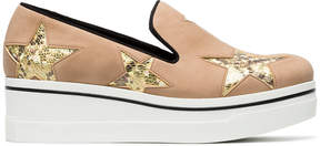Stella McCartney Pink Binx 45 slip on platform sneakers