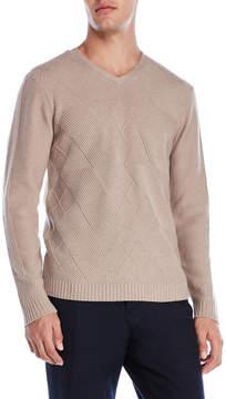 Qi Diamond Knit Cashmere Sweater