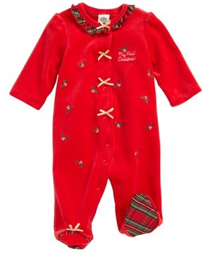 Little Me Infant Girl's My First Christmas Footie