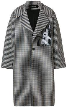 Misbhv long houndstooth coat