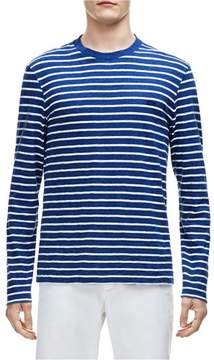 Lacoste Mens Striped Basic T-Shirt Blue 2XL