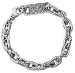 King Baby Studio Oval Link Sterling Silver Bracelet