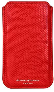 Aspinal of London Iphone 6 Plus Leather Sleeve In Berry Lizard