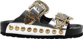 Fausto Puglisi Gold Buckle Slide (Women's)