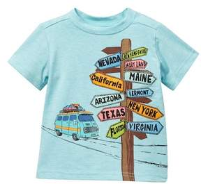 Andy & Evan Aqua Road Sign Tee (Baby Boys)