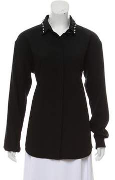 Anthony Vaccarello Wool Embellished Top
