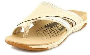 Propet Corinne XT Women N/S Open Toe Leather Ivory Flip Flop Sandal