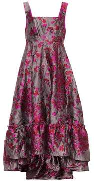 Co Metallic jacquard dress