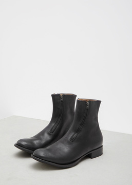 Yohji Yamamoto Black Front Zip Boots