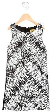Nicole Miller Girls' Printed Faux Leather Dress w/ Tags