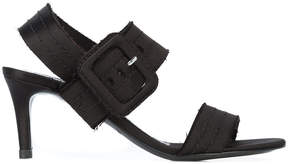 Pedro Garcia stitched strap buckle detail sandals