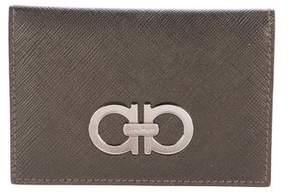 Salvatore Ferragamo Gancini Leather Card Wallet