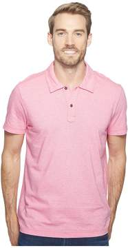 Agave Denim Short Sleeve Polo Italian Pique in Berry Men's Clothing