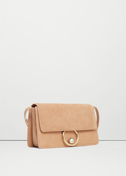 MANGO OUTLET Leather flap bag