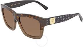 MCM Grey Gradient Rectangular Ladies Sunglasses