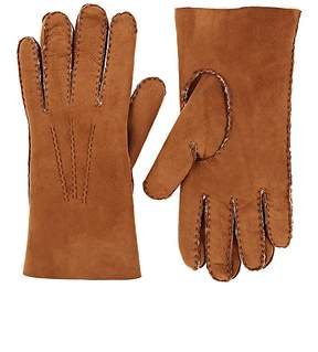 Barneys New York Men's Pick-Stitched Sheep Shearling Gloves