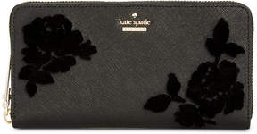 Kate Spade Cameron Street Flocked Roses Lacey Wallet