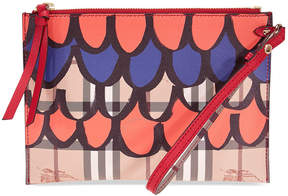 Burberry Check and Leather Pouch-Multi