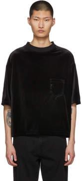 SASQUATCHfabrix. Black Velour Pocket T-Shirt