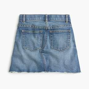J.Crew Girls' reconstructed denim skirt