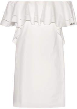 Rachel Zoe Allison Off-the-shoulder Stretch-cotton Poplin Mini Dress - White