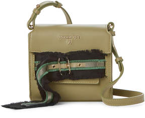 Patrizia Pepe Fringed Belt Daily Green Leather Handbag