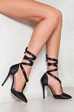 Nasty Gal Heathers Lace-Up Heel