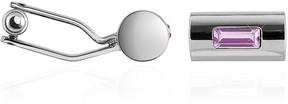 Forzieri Pitti - Purple Cylinder Silver Plated Cuff links