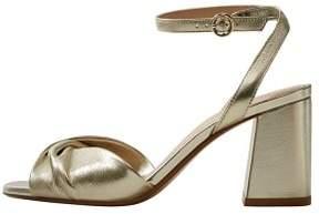 MANGO Metallic leather sandals