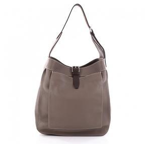Hermes Brown Leather Handbag - BROWN - STYLE