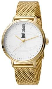 Just Cavalli Mens Gold Watch With White Dial.