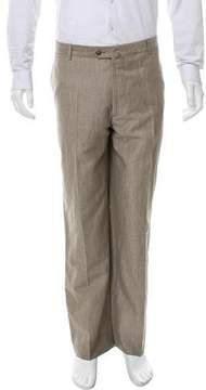 Luciano Barbera Wool & Linen-Blend Pants