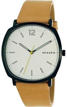 Skagen Men's Rungsted SKW6379 Tan Leather Quartz Fashion Watch