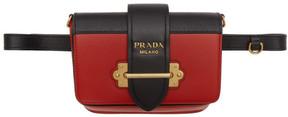 Prada Red Cahier Belt Bag