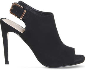 Office Heist peep toe stiletto heel boots