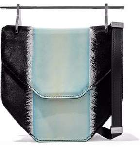 M2Malletier Calf Hair And Patent-Leather Shoulder Bag