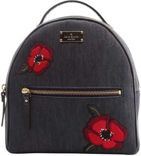 Kate Spade Black Poppy Sammi Grove Street Backpack