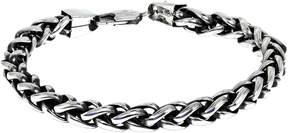 JCPenney FINE JEWELRY Mens Stainless Steel & Black IP 9 8mm Wheat Bracelet