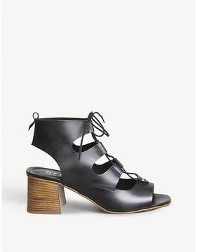 Office Mallorca string leather sandals