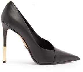 Balmain Agnes point-toe leather pumps