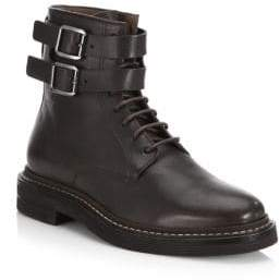 Brunello Cucinelli Double Buckle Leather Boots