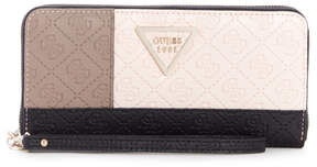 GUESS Kamryn Color-Block Zip-Around Wallet