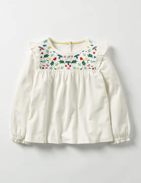 Boden Pretty Embroidered Top