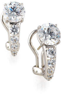 FANTASIA Tapered CZ Crystal Earrings