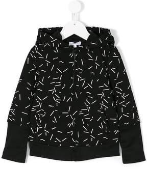 DKNY hooded print jacket