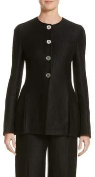 Carolina Herrera Linen & Silk Blend Tweed Jacket