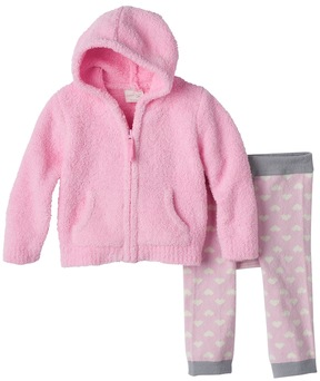 Cuddl Duds Baby Girl Hoodie & Heart Pants Set